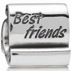"Authentic Pandora ""Best Friends"" scroll charm"